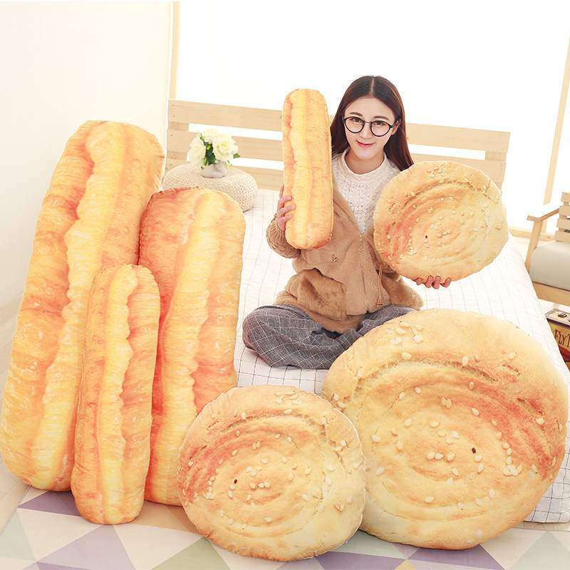 个性仿真油条烧饼毛绒抱枕大号家居安抚玩偶靠枕靠垫抱枕定制