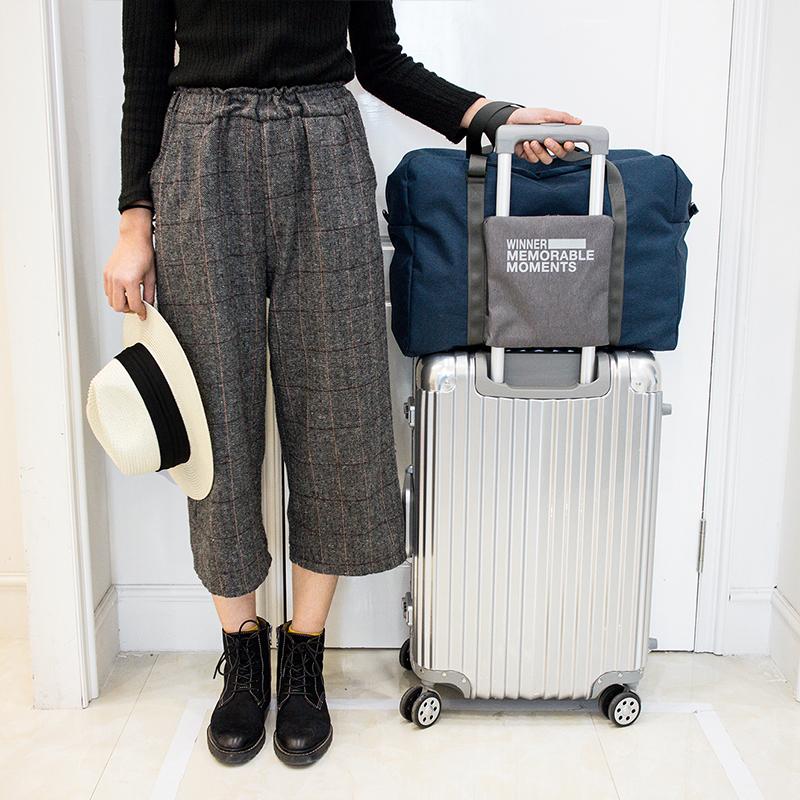 Travel bag portable womens portable folding storage bag large capacity luggage bag fitness bag mens foldable suitcase