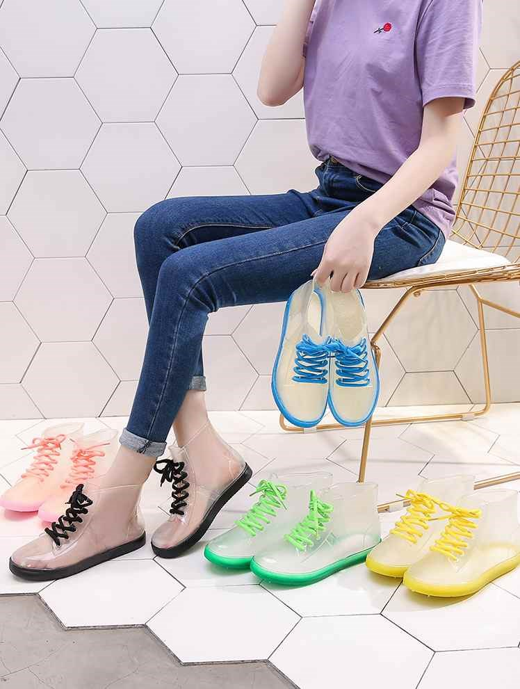 Water shoes, muddy water helper, outdoor travel assistant, kitchen, jelly shoes, fashion, low top, medium tube, breathable bucket, girls rain boots