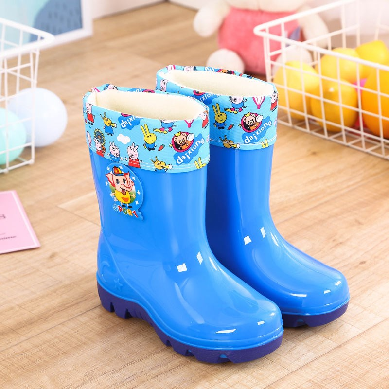 Childrens rain shoes childrens water shoes antiskid and waterproof rubber shoes