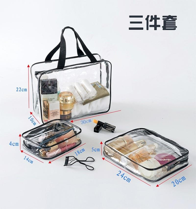 Transparent portable storage bag skin care package girl mini plastic travel goods lovely wash waterproof cosmetic bag