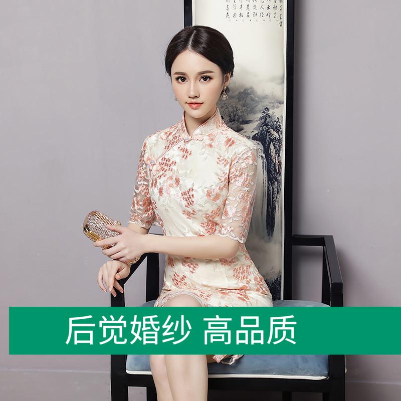 Cheongsam new spring and summer new girl daily self-cultivation improvement cheongsam fashion dress student dress
