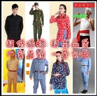 八路军红军演出服日本鬼子农民汉奸大佐村姑王二小游击队抗战服装