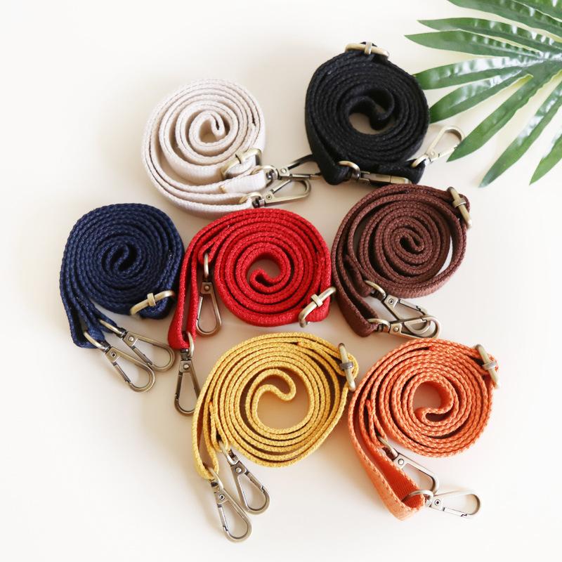 帆布包百搭配件加厚可调节优质女包单肩斜跨包带多彩色母亲节