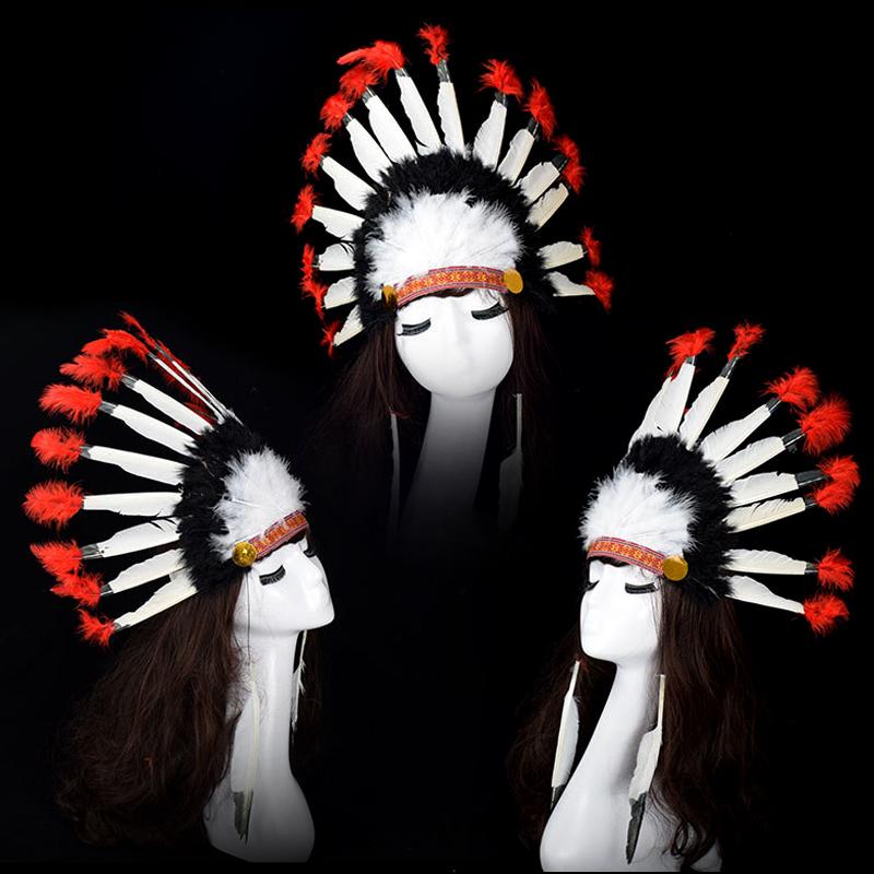 Черный цвет люди украшения Emirates длинный колпак сын перо хэллоуин танец может наряд играть COS цвет оригинал люди, претендующие украшения реквизит