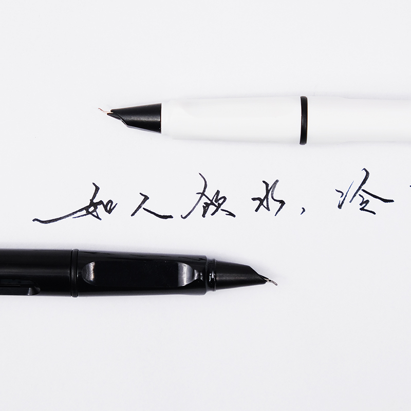 长诗美工钢笔弯头弯尖成人钢笔练字书法硬笔办公学生用钢笔