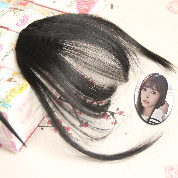 Wig air bangs modeling ultra-thin invisible bangs natural lifelike, no trace to modify the face, sideburns even bangs