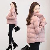 韩版 立领小款 棉衣学生无帽羽绒棉服外套 小棉袄女短款 修身 秋冬装