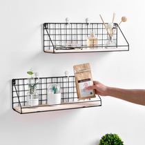 Wall Shelf Space Master student dormitory artifact hanging basket bedside wall hanging female dormitory kitchen storage residential