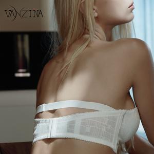 芬斯狄娜无肩带文胸防滑聚拢小胸罩抹胸无钢圈美背婚纱隐形内衣女