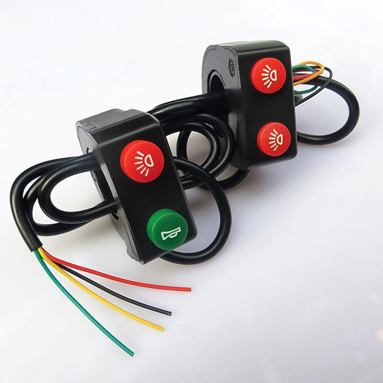 Мотоцикл переключатель электромобиль фары переключатель трехколесный аккумуляторная батарея автомобиль ремонт монтаж ближнего и дальнего света строб динамик кнопка