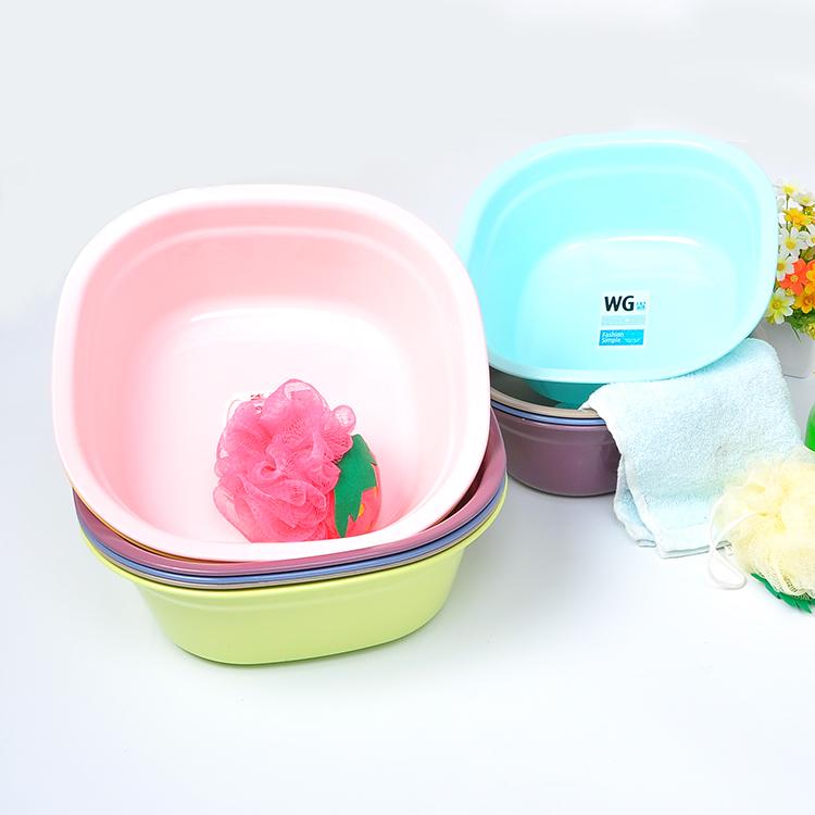 Квадрат умывальник домой мыть бассейн пластик чаша прачечная одежда бассейн для взрослых ребенок купаться размер чаша