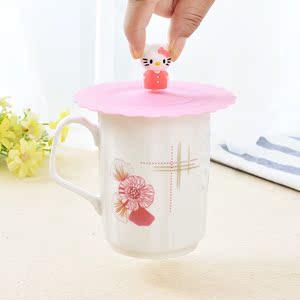 创意卡通环保硅胶杯子盖 餐桌防尘防漏多功能杯盖子密封水杯盖
