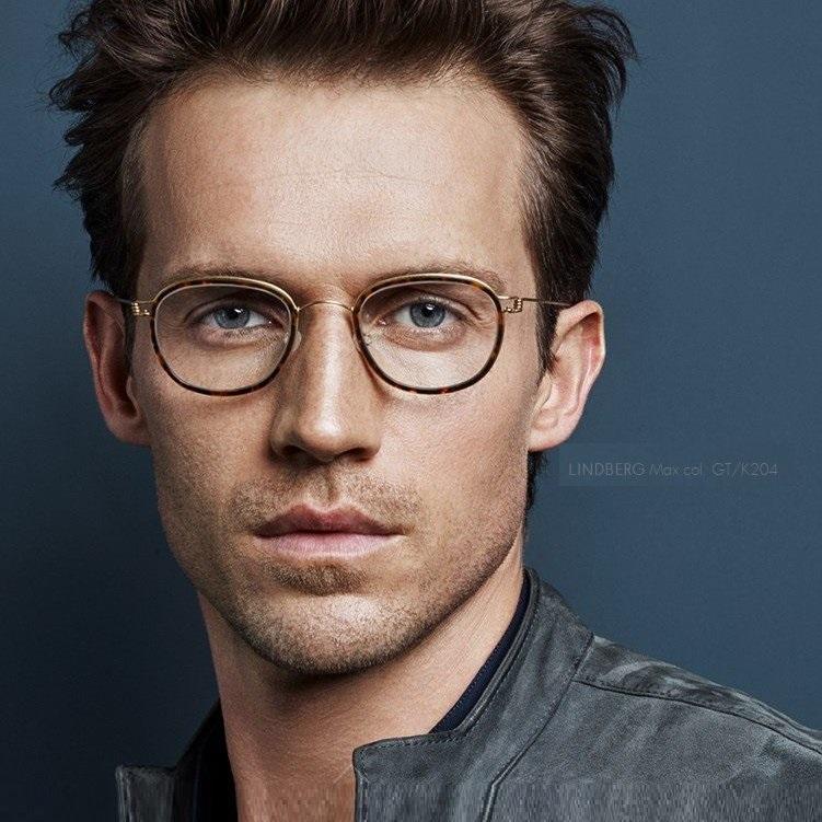 复古圆形LINDBERG男女近视眼镜框MAX JACKIE AIKO林德伯格眼镜架