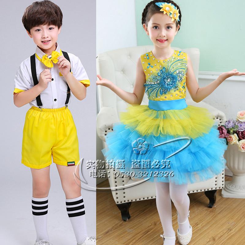 幼儿园六一儿童节合唱服小孩子表演衣服跳舞蹈演出服装男女童套装