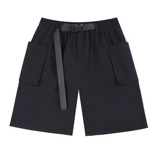 宜搭直筒工裝短褲女街潮2020新款夏季薄款高腰寬鬆顯瘦五分褲子