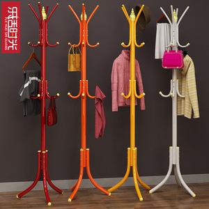 衣服挂衣架衣帽架落地卧室简易创意落地衣架子收纳架时尚创意铁艺