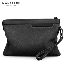 First layer cow leather men's bag 2019 new fashion handbag men's leather leisure handbag men's hand holding envelope bag