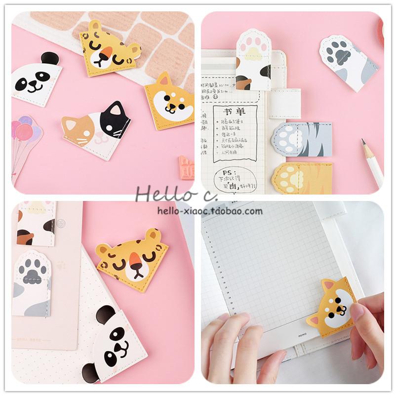 日系创意可爱猫咪动物小清新女学生用布艺书签阅读夹页书签纸文具