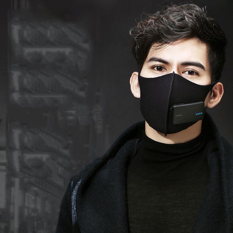 Bu болтовня абсолютно новый усовершенствованный второе поколение мужской и женщины умный маски зима противотуманные РМ2,5 дымка господь перемещение ветер N95 очиститель