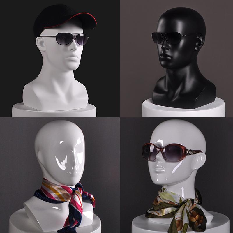 12月01日最新优惠模特头 玻璃钢头模 VR眼镜帽子假人头 模特道具头 人头模型 衣秀