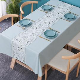 桌布防水防油免洗防燙 北歐餐桌布茶幾桌墊長方形家用pvc臺布布藝圖片