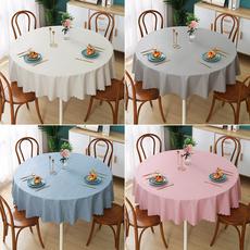 圆桌餐布 桌布防水防油免洗防烫圆形圆桌布家用pvc餐桌布台布桌垫