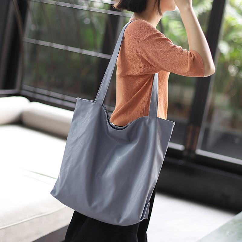 原创pu软皮大包包简约时尚购物包(非品牌)