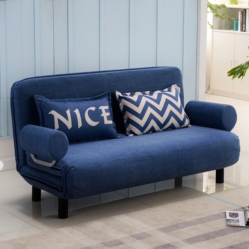 。收缩折叠沙发床两用储物空间多功能全包双人床推拉小型阳台家居922.80元包邮
