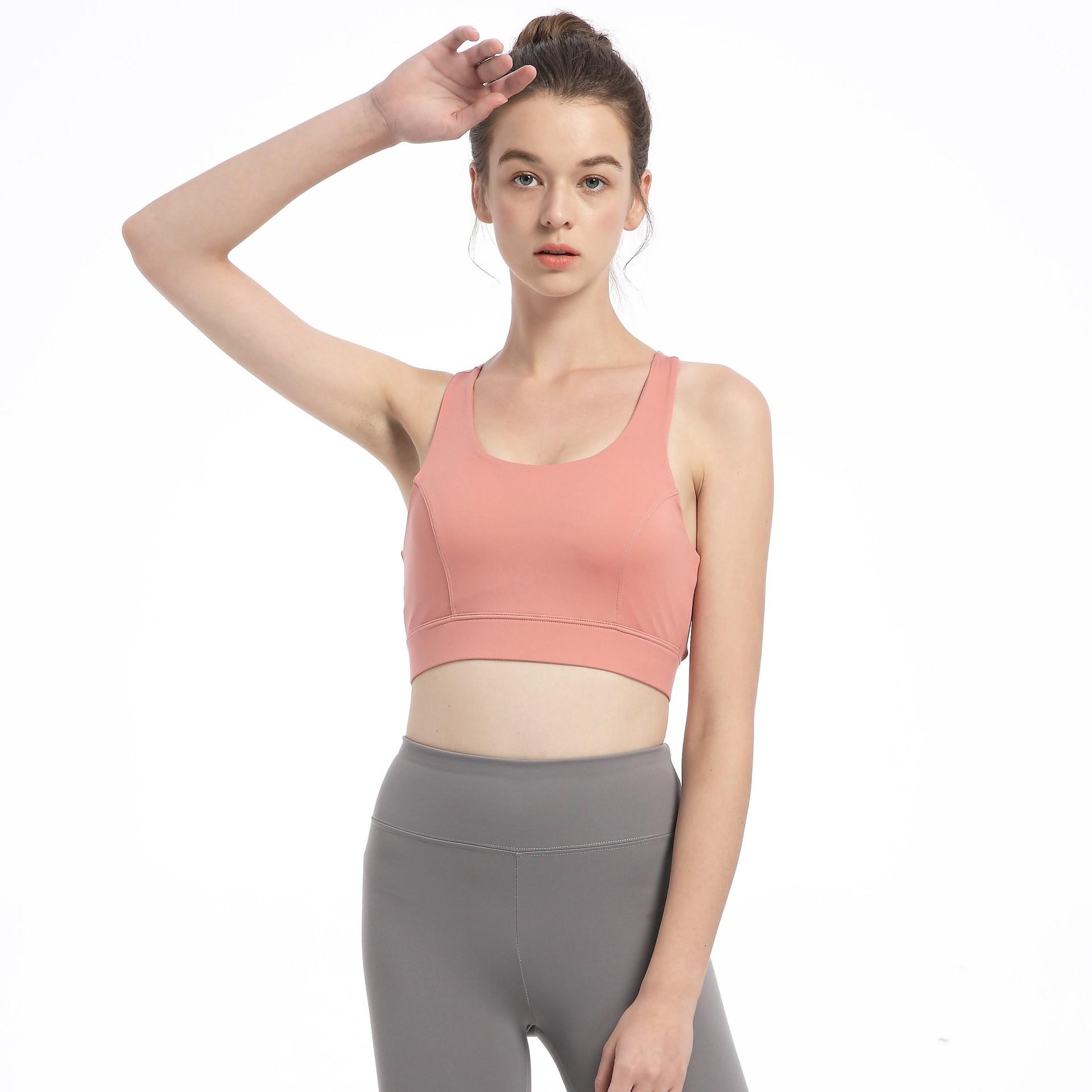 新款大码胖mm防震运动文胸聚拢定型内衣健身美背瑜伽跑步背心bra券后59.15元