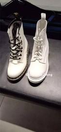 国现dr. martens荔枝纹1460软皮pascal纯白色8孔男女高帮马丁短靴图片