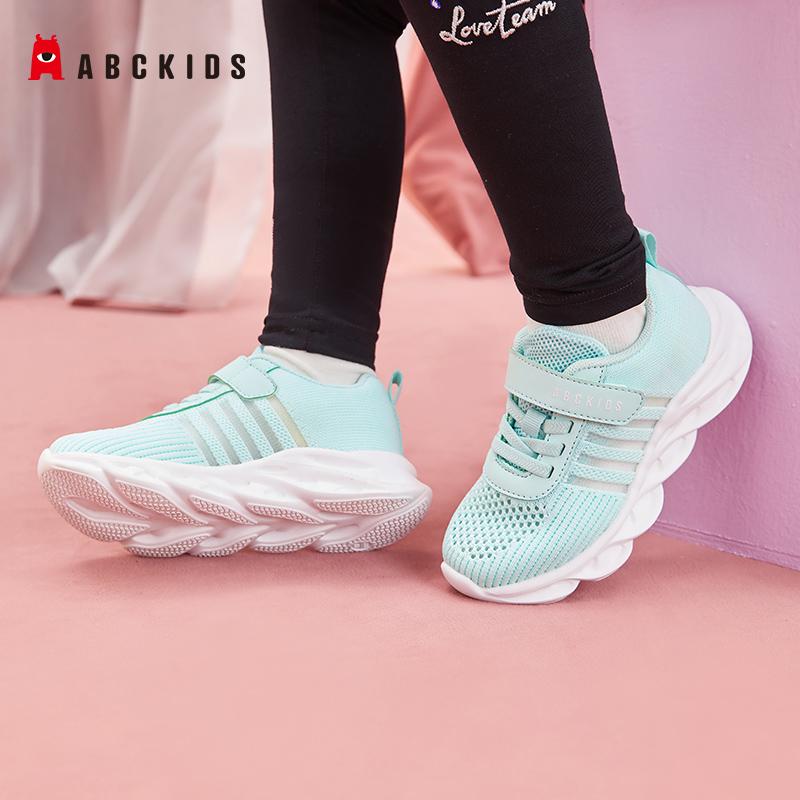 abckids童鞋2021年春季新款儿童鞋网面透气运动鞋男女中童运动鞋