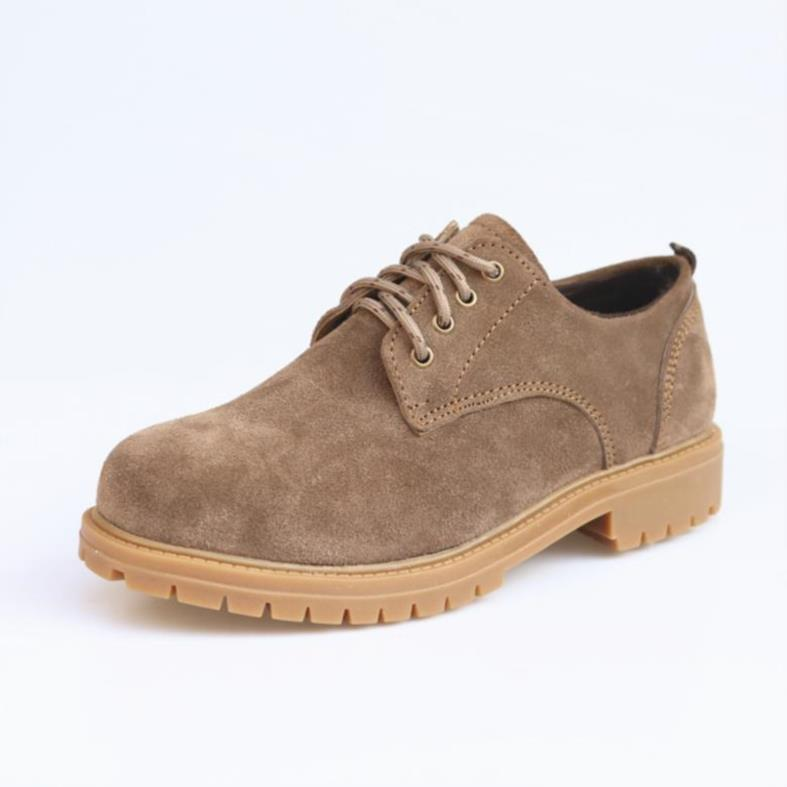 Work clothes shoes low top suede leather shoes mens shoes cow leather round head Martin boots outdoor anti suede desert boots leather tide shoes