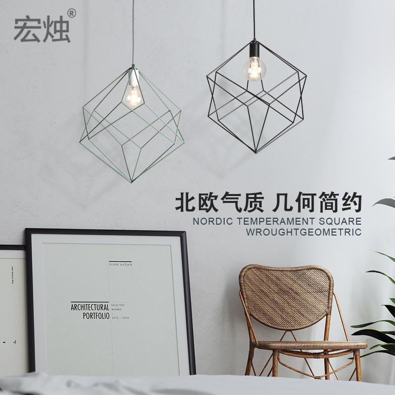 北欧文艺吊灯简约创意个性美式餐厅饭厅卧室吧台服装店走廊LED灯