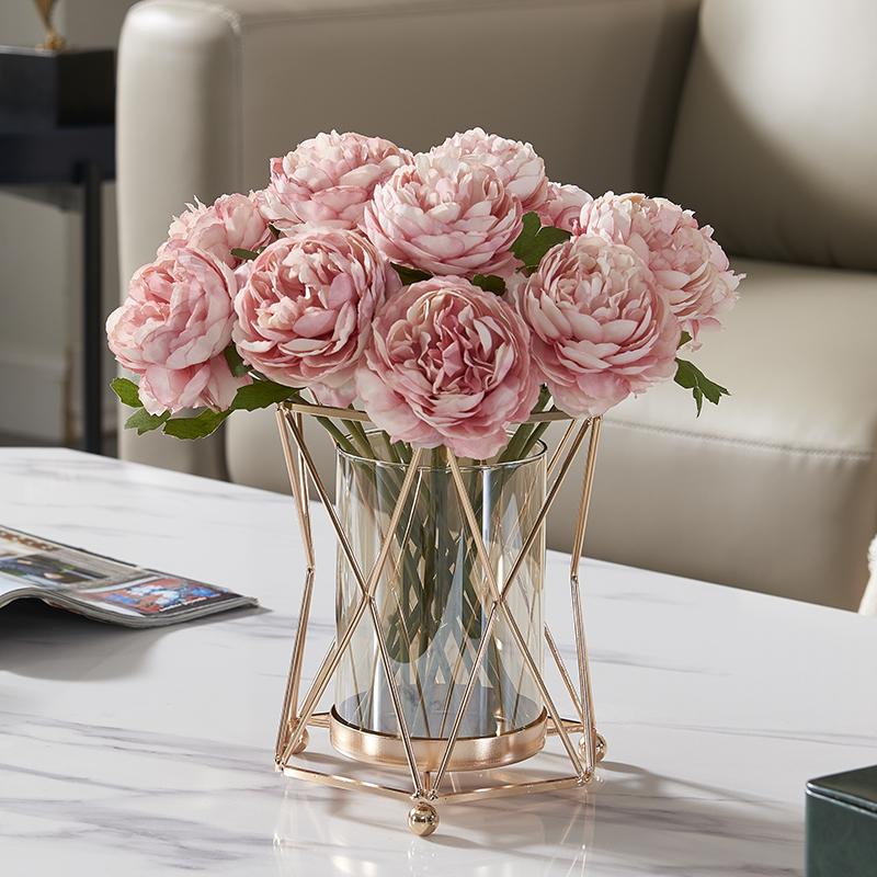 北欧轻奢仿真花摆件假花花艺花束套装客厅电视柜餐桌茶几桌面摆花