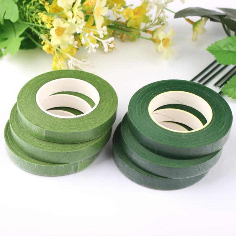Zhahua DIY ручная работа Материал гирлянды цветок полюс пакет сторона полосатый Лента для бумаги светло Зеленые аксессуары темно зеленый 1 см в ширину пакет цветок