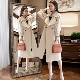风衣女装中长款2020年秋季新款韩版小个子大衣英伦风流行春秋外套