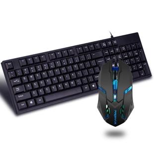 铂科有线发光键盘鼠标套装键鼠鼠标