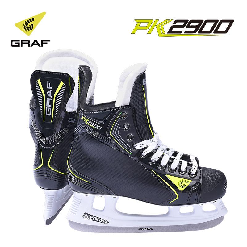 GRAF格拉芙PK2900冰球鞋新款儿童初学成人冰刀鞋球刀滑冰鞋打冰球