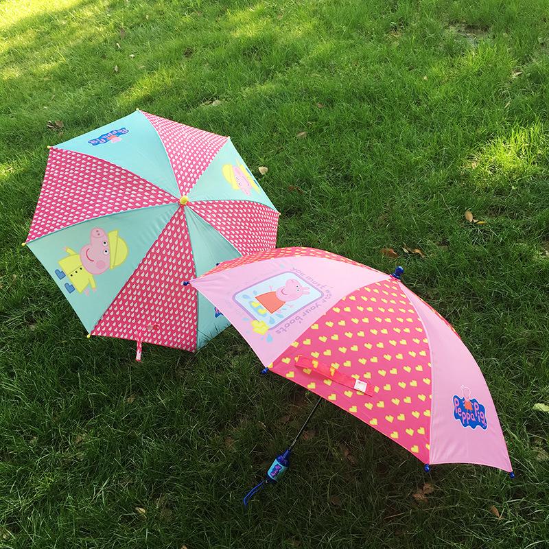 儿童雨伞女儿童幼儿园超轻佩佩猪粉红猪雨伞宝宝雨具雨伞