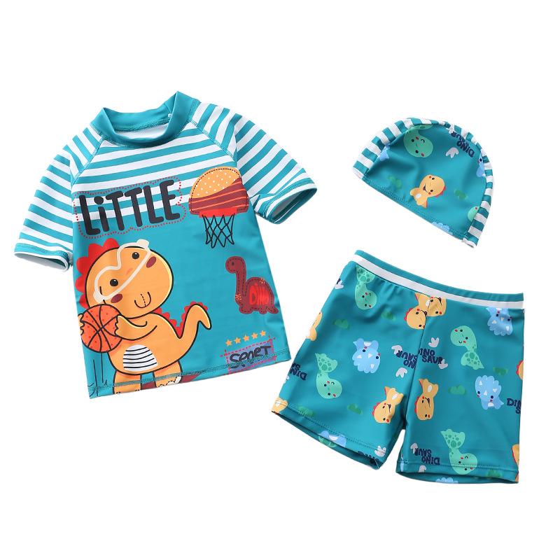 新款儿童泳衣男童分体平角游泳衣宝宝男孩泳装婴儿游泳衣厂家直销