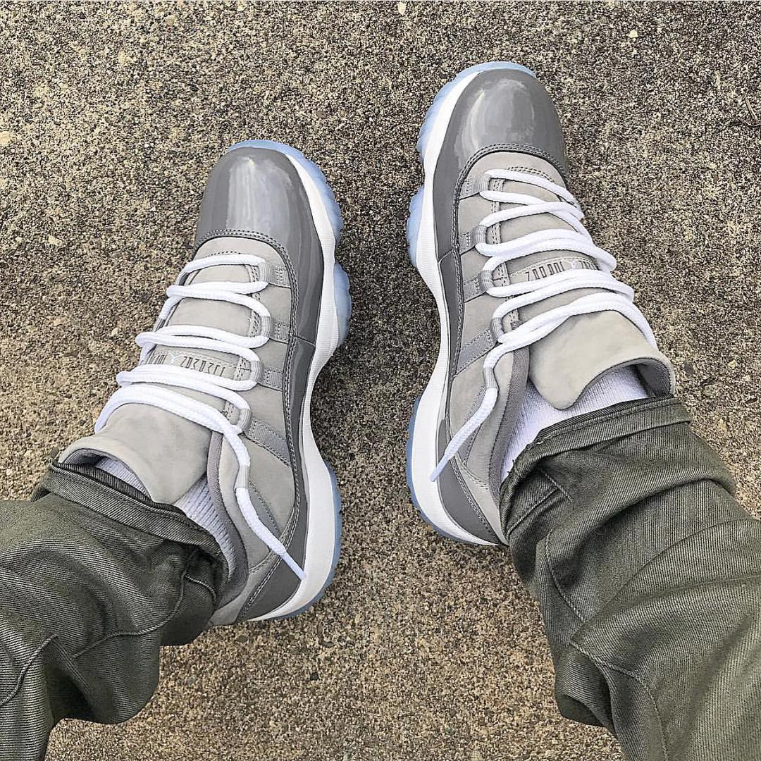 Air Jordan 11 Low Cool Grey AJ11 酷灰低帮 528896-528895-003