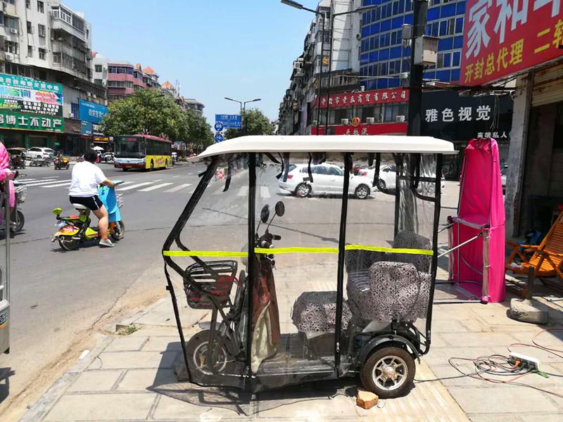 电动三轮车车棚折叠休闲新款小型老年全封闭小巴士车篷遮阳挡雨蓬
