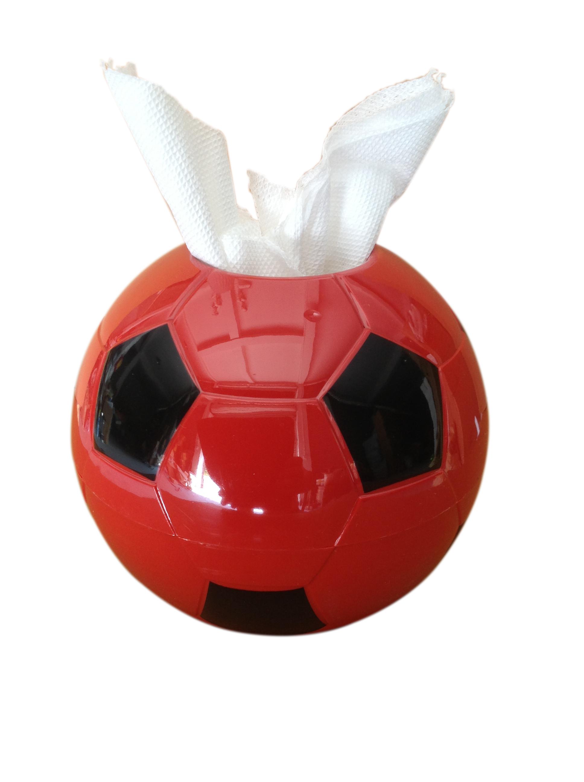 热销韩版创意时尚家居用品塑料彩色足球纸巾收纳盒圆方形卷抽纸筒