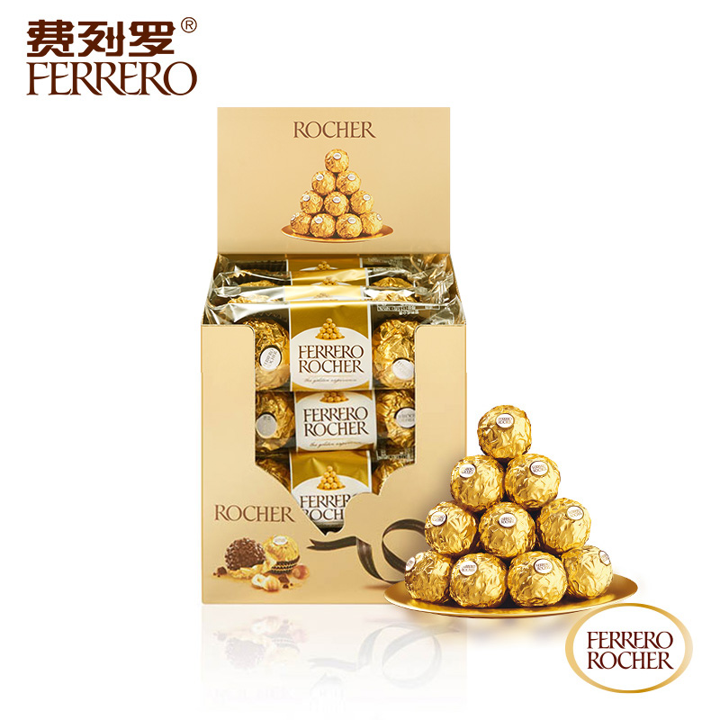 费列罗榛果威化巧克力48粒礼盒装结婚庆喜糖零食