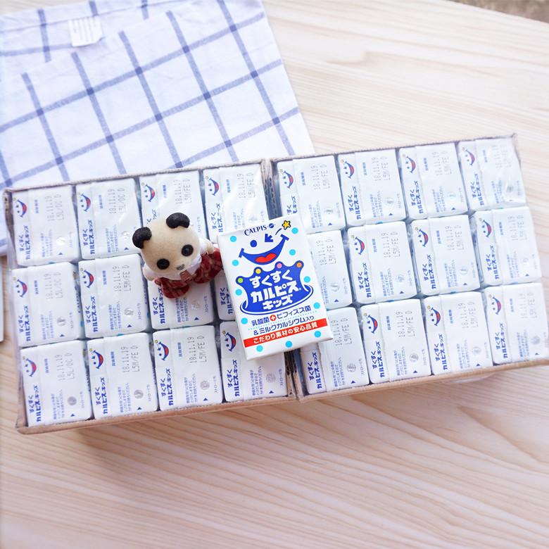 包邮日本进口可尔必思乳酸菌饮料 宝宝儿童乳酸菌酸奶饮料 24盒入