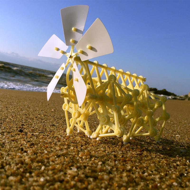 风力神兽科技小发明制作仿生风力兽机器人风能动力机械兽抖音玩具