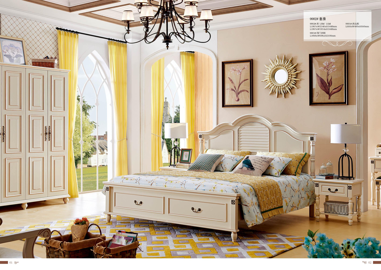 Американский спальня принцесса кровать просто мода составить тайвань континентальный сборка спальня сочетание новый классическая дерево сделанный на заказ