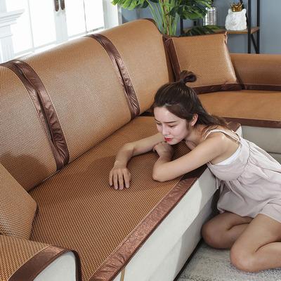 沙发垫夏季凉席垫冰丝藤席夏天坐垫子客厅欧式布艺防滑沙发套罩巾