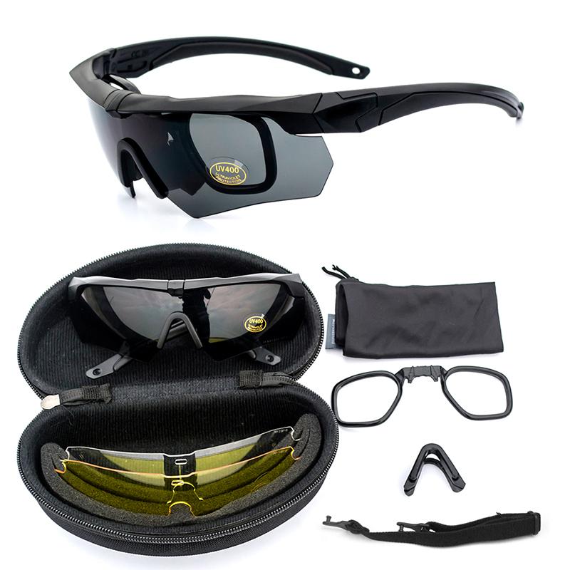 Американская версия крест галстук-бабочка противо бомба очки военный стрелять забастовка очки взрывозащищенный тактический очки близорукость поляризующий на открытом воздухе темные очки